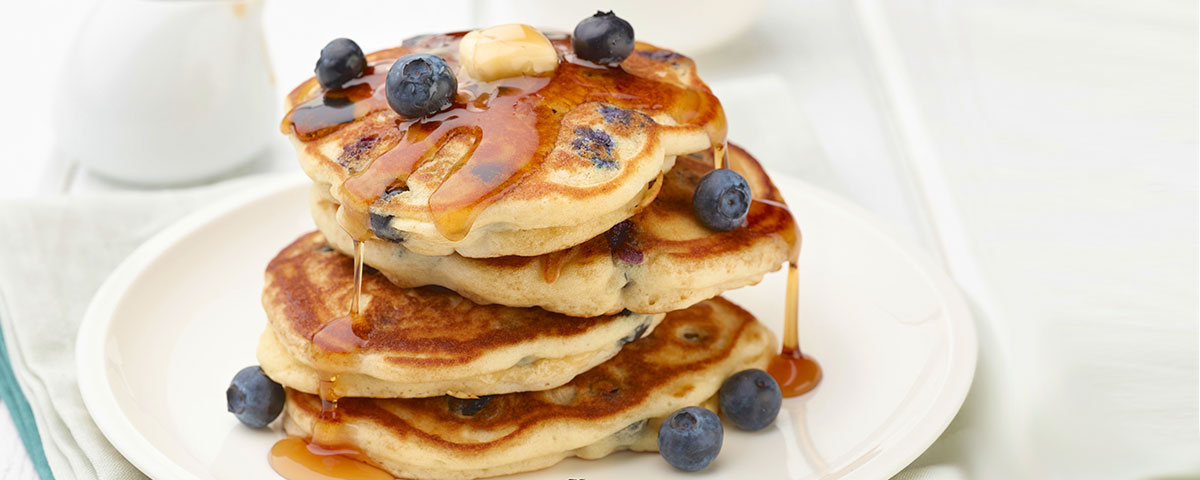 coconut blueberry pancake
