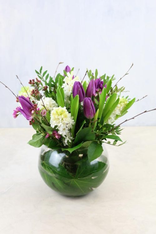 Scented hyacinths and tulips