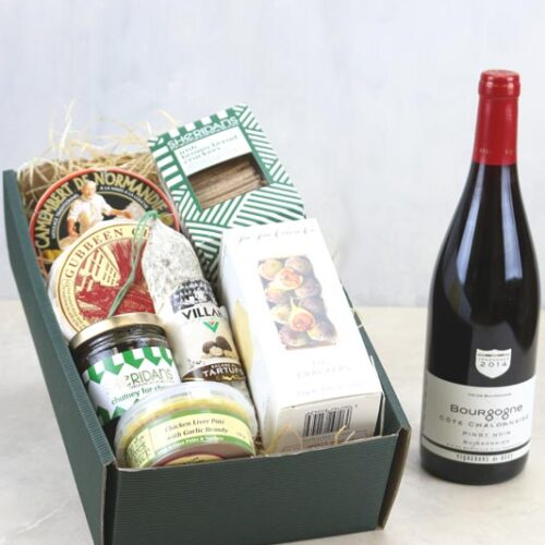 Gift Set Cheese & a bottle of Vigerons De Buxy Bourgogne Pinot Noir