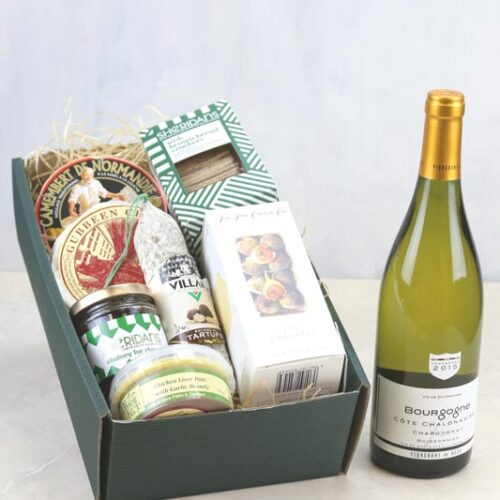Gift Set Cheese & a bottle of Vigerons de Buxy Bourgogne Chardonnay